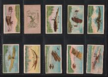 Tobacco cigarette cards set Zeppelin airships aviation 1912